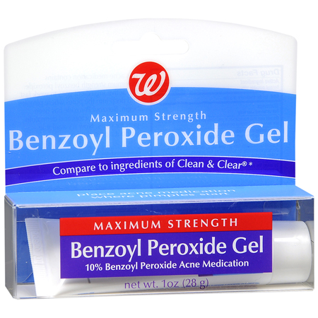 Walgreens 10 Benzoyl Peroxide Gel Over The Counter Acne